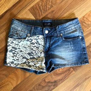 ⭐️MUST BUNDLE⭐️ Delia's • Denim & Lace Shorts